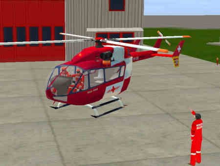 Eurocopter EC145 Rega Static Models