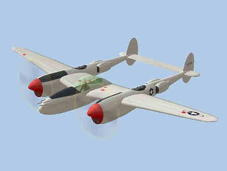 Lockheed P38 Lightning Fighter