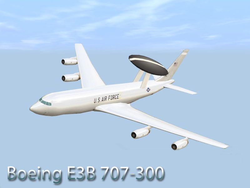 Boeing 707, E-8C Joint Stars and E3B AWACS