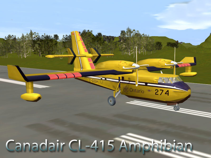 Canadair CL-415 Amphibian Waterbombing