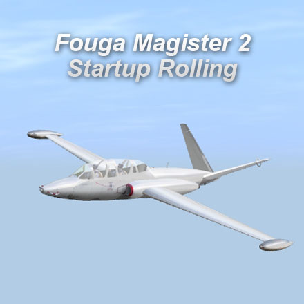 Fouga Magister 2 Startup Rolling