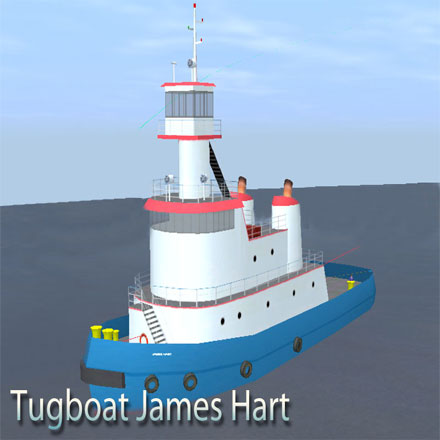 Tugboat James Hart and C.R.Campbell